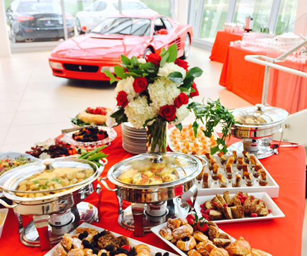 Corporate Event Catering at Ferrari